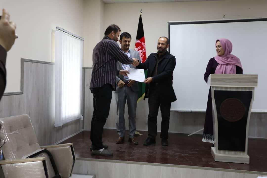 توزیع تصدیق نامه برنامه ارتقای ظرفیت